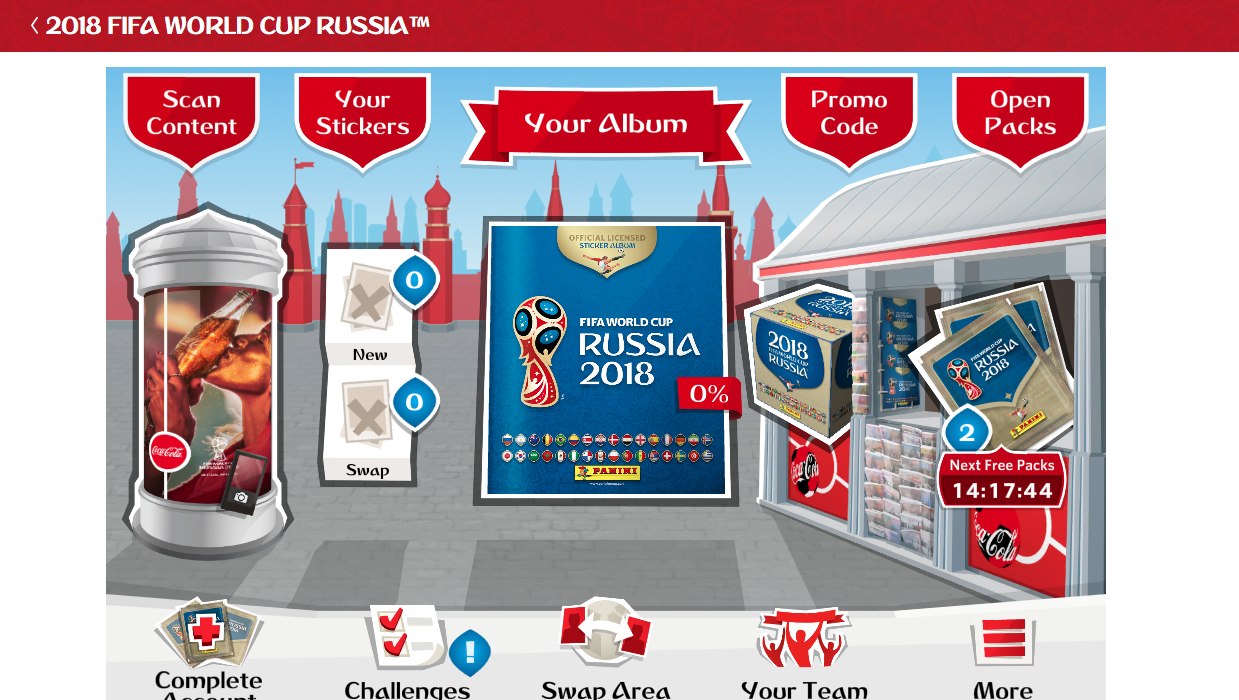 Panini Digital Sticker Album FIFA World Cup 2018