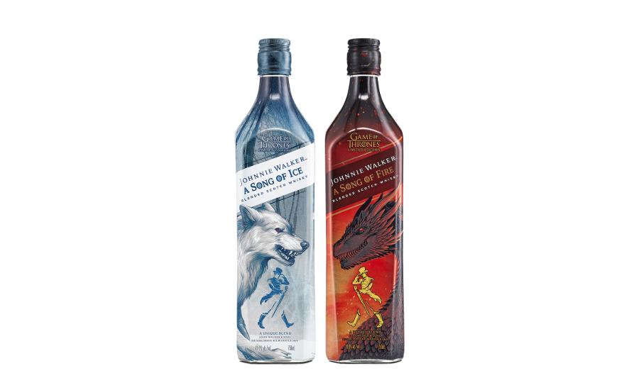Johnnie Walker Game of Thrones whiskey bottles