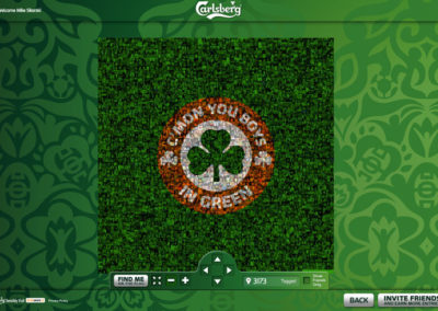 Carlsberg Join the Green Army Digital TIFO